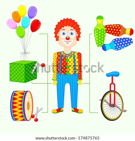 vector illustration of circus clown