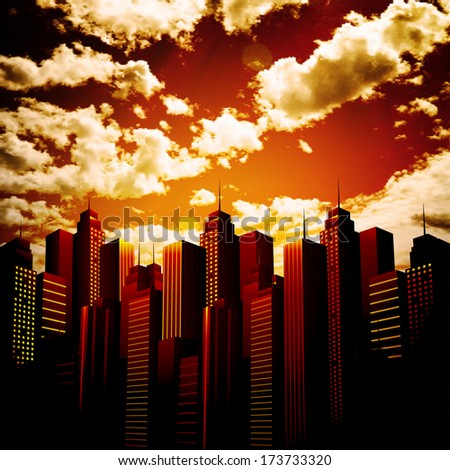 vector illustration of city and