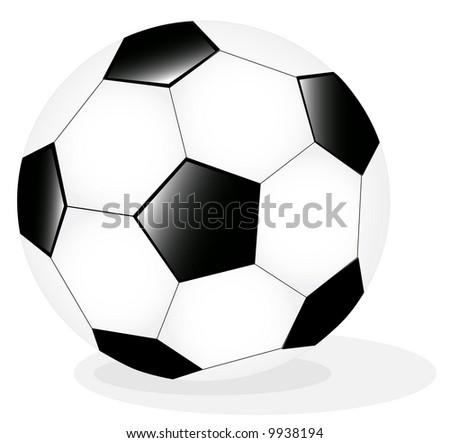 Vector Illustration of classic soccer ball - stock vector