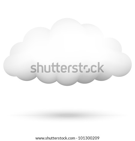 Vector illustration of cloud