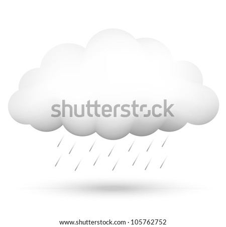 Vector illustration of cloud and rain
