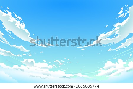vector illustration of  cloudy