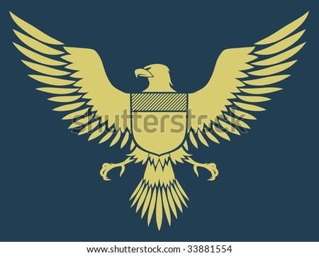 Vector illustration of coat-of-arms bird - Medieval Eagle of my own design