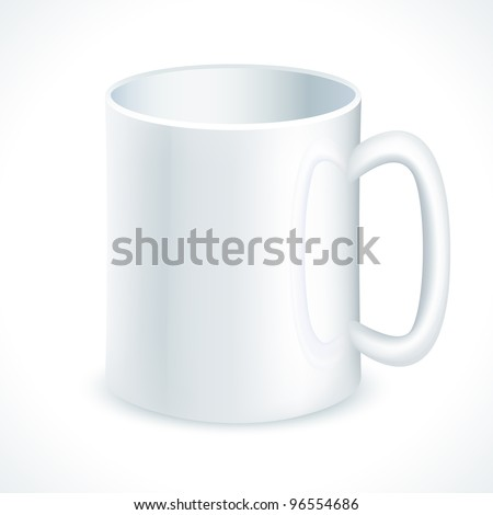 vector illustration of coffee mug against white background