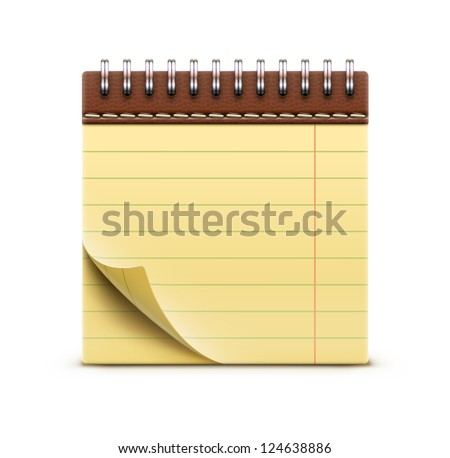 Vector illustration of coil bound notebook icon