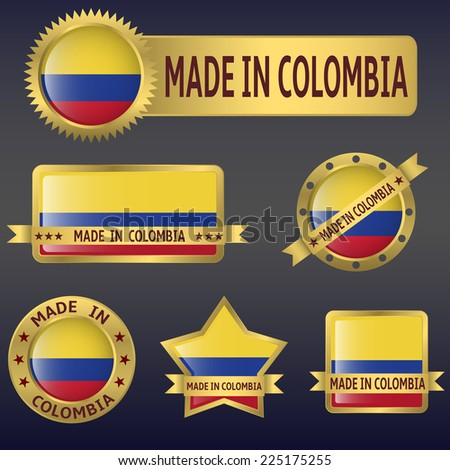 vector illustration of colombia