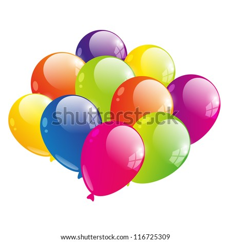 Vector illustration of color balloon