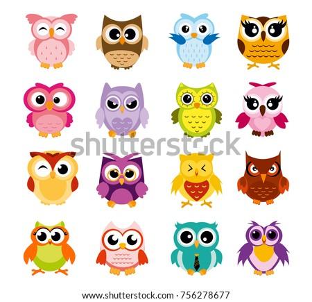 scandinavian buho or owls vector collection download free vector