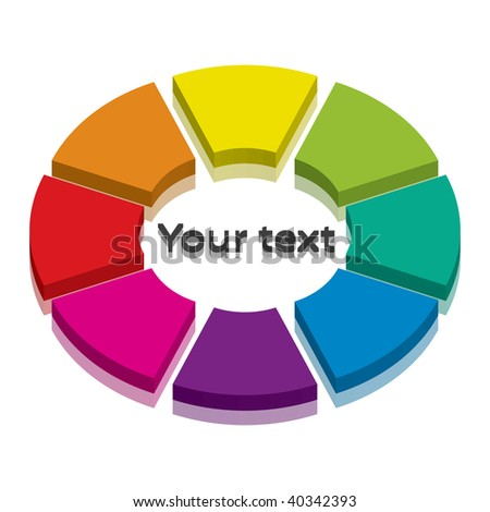 Vector illustration of colorful cycle-icon with space for your text
