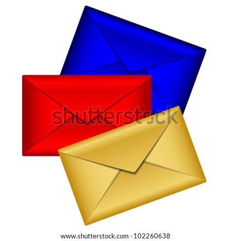 Vector illustration of colorful envelopes