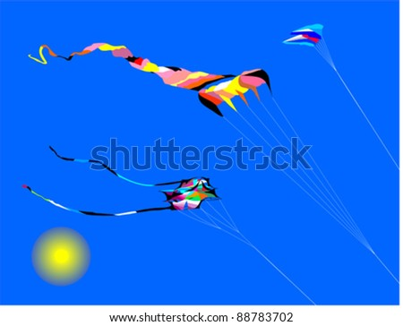 Vector Illustration of colorful kites