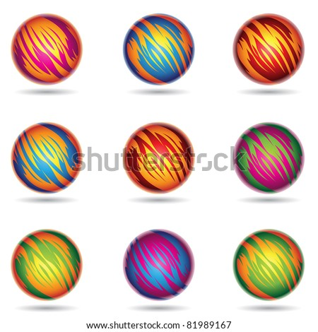 Vector illustration of colorful Planet like Spheres
