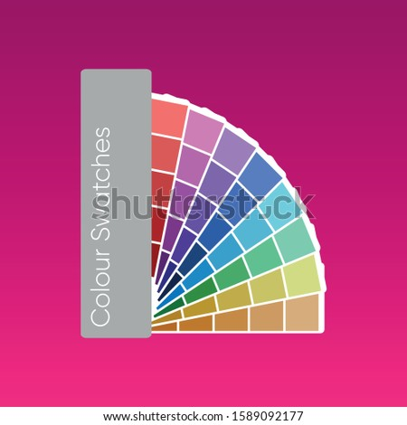 Vector Illustration of Colours Swatches Book