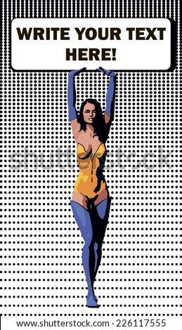 vector illustration of comics