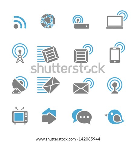 Vector illustration of communication icons.