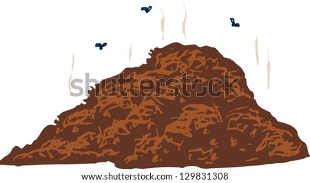 Vector illustration of compost