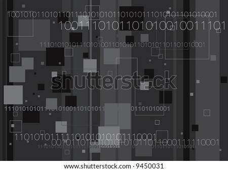 Vector illustration of computer generated digital binary code technology