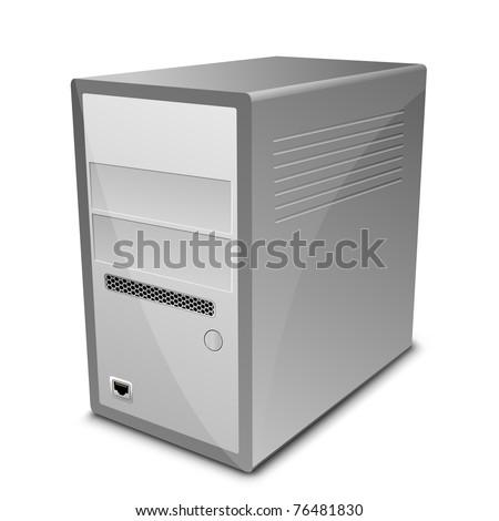 Vector illustration of computer server - stock vector