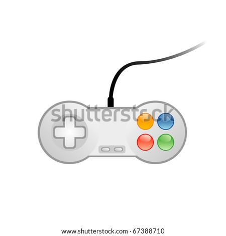 Vector illustration of console joystick