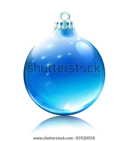 Vector illustration of cool blue Christmas decoration