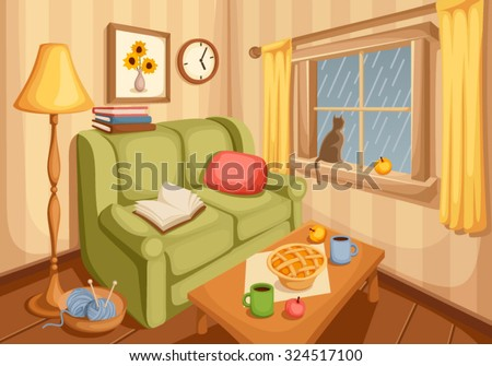 vector illustration of cozy