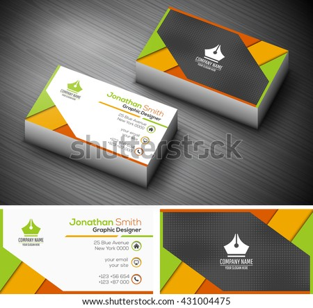 Free creative business cards vectors vector illustration of creative business card reheart Images