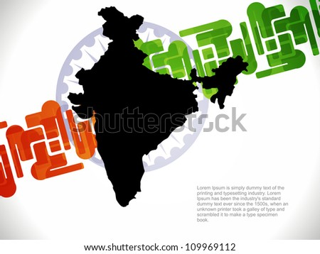 Vector illustration of creative indian flag design.