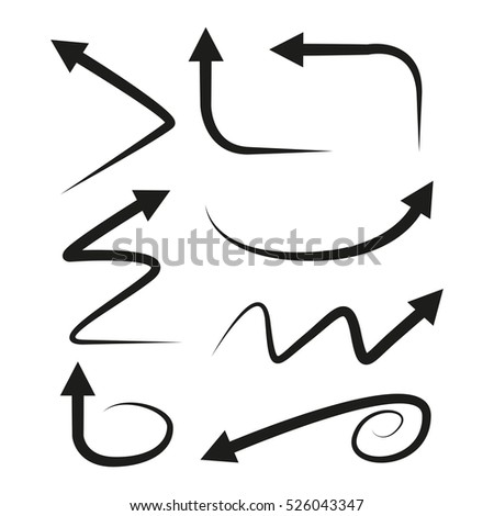 vector illustration of curved arrow
