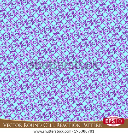 Vector illustration of curved round seamless pattern. Hand draw point by point.