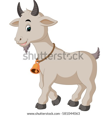 vector illustration of cute goat cartoon