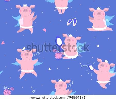 vector illustration of cute