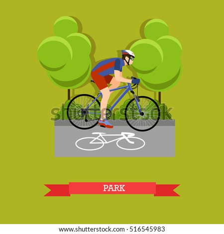 vector illustration of cyclist