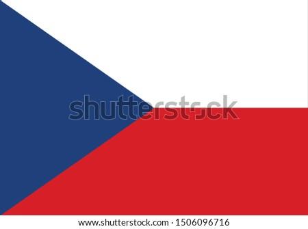 vector illustration of Czech republic flag Foto stock ©