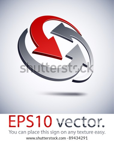 Vector illustration of 3D abstract business sign.