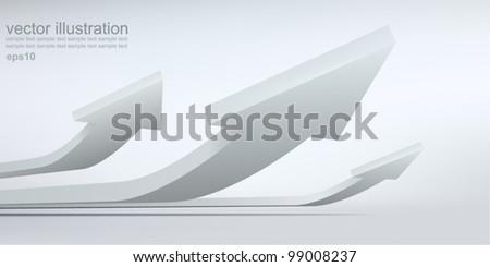 Vector illustration of 3d arrows