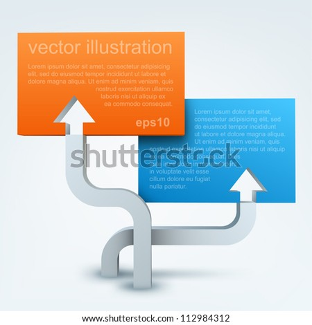 Vector illustration of 3d arrows with blanks
