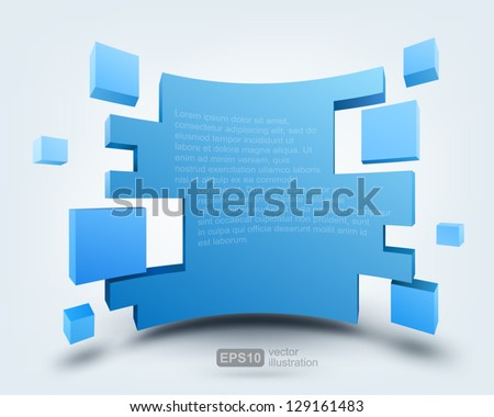 Vector illustration of 3d background, logo design