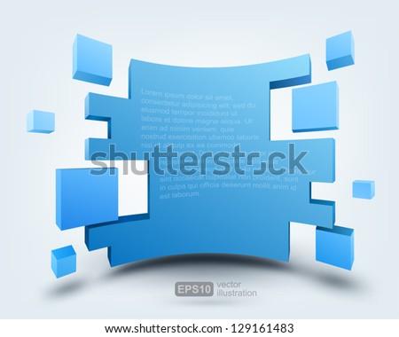 Vector illustration of 3d background, logo design