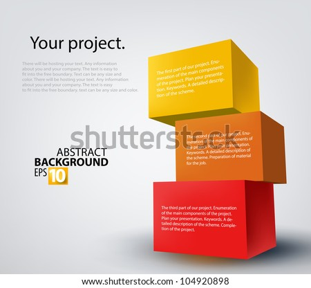 Vector illustration of 3d boxes