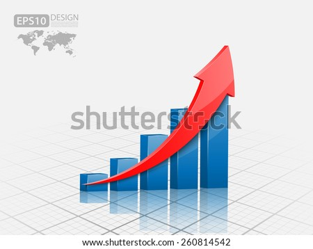 Vector illustration of 3d graph