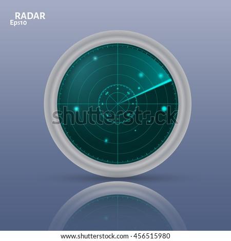 vector illustration of 3d radar