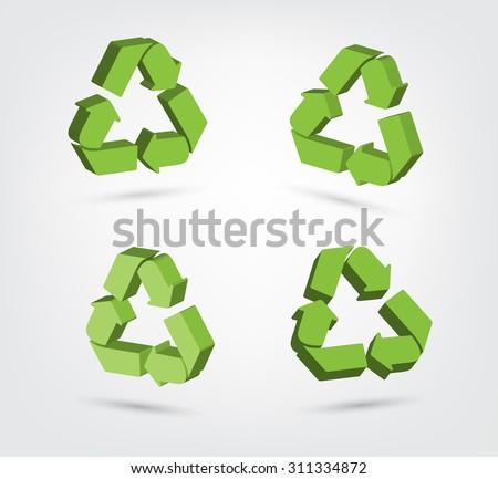 Shiny Recycling Symbol Download Gratis Vectorkunst En Andere