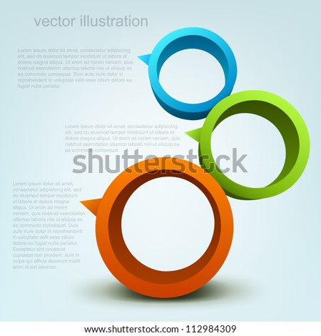 Vector illustration of 3d rings, logo design