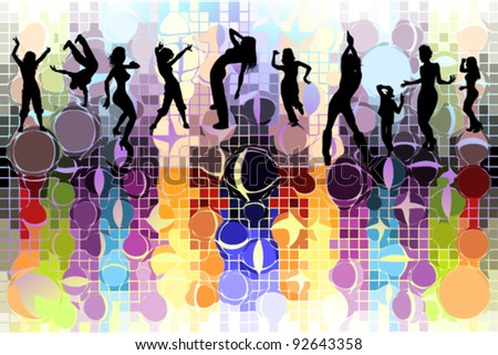 vector illustration of dancing