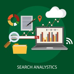 Vector illustration of Data analysis and business information research solution concept with