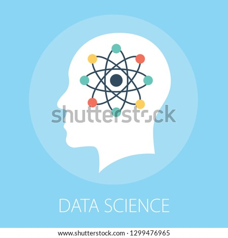 Vector illustration of data technology & science concept with