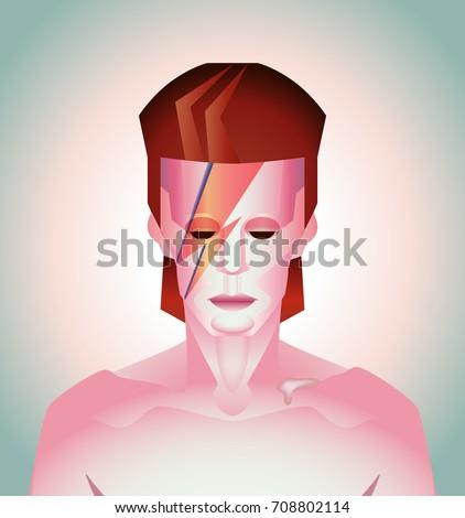 vector illustration of david