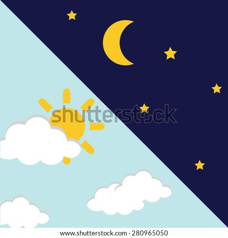 vector illustration of day and