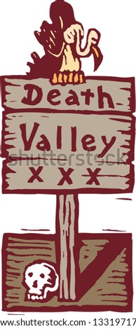 vector illustration of death