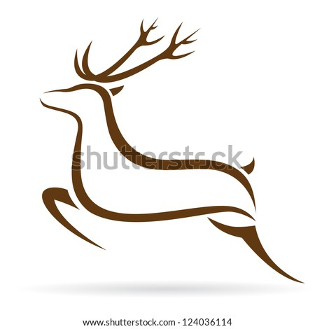 Vector illustration of deer symbol tattoo